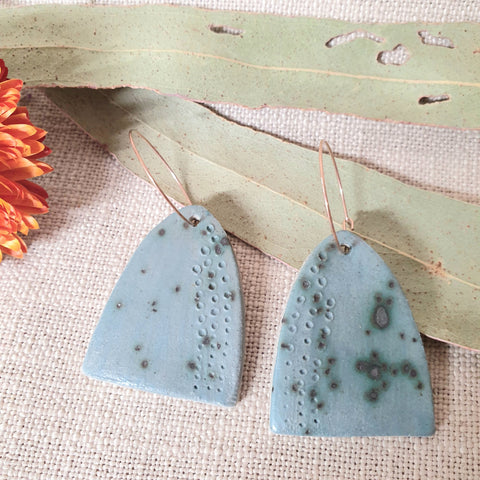 Ceramic Earrings - Arch Denim Spots