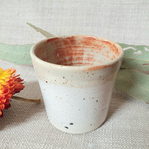 Ceramic Tiny Cup - Speckle Ochre