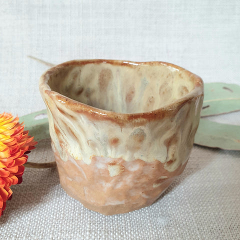 Ceramic Organic Cup Small - Mustard Earth