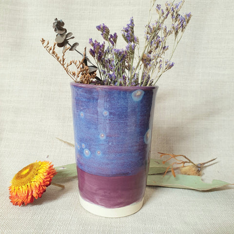 Ceramic Vase - Purple Sky
