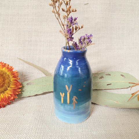 Ceramic Mini Vase - Blues