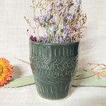 Ceramic Textured Planter - Dark Green