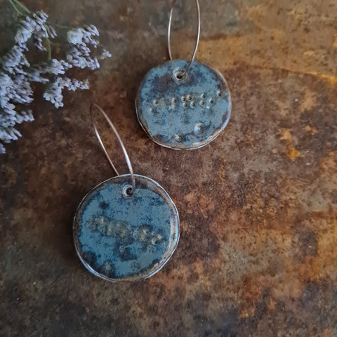 Ceramic Earrings - Circle