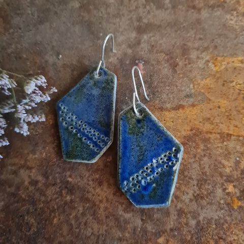 Ceramic Earrings - Asymmetrical