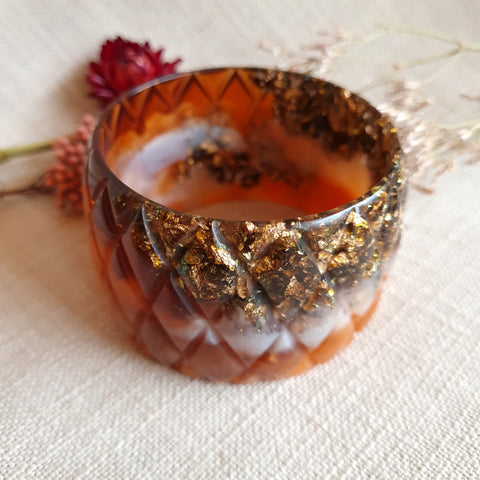 Bangle - Quilted Ochre