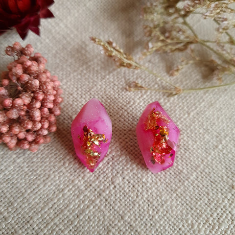 Nugget Studs - Hot Pink