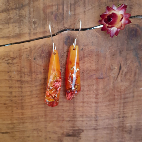 Shard Earrings - Orange