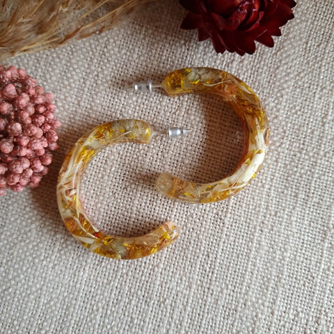 Metanical Hoop Earrings - Yellow