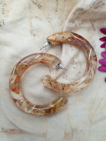 Metanical Grande Hoop Earrings - Peachy
