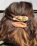 Metanical Hair Clip - Mustard + Burgundy