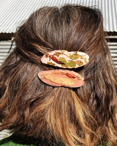 Reserved for Amanda Metanical Hair Clip - Wattle
