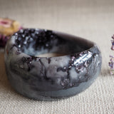 Bangle - Curve Charcoal & Silver