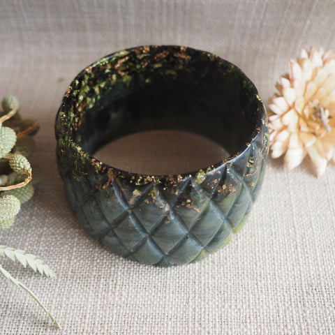 Bangle - Quilted Olive