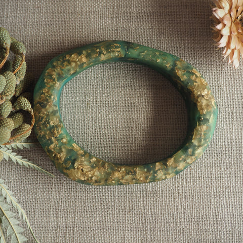 Bangle - Organic Facet Green