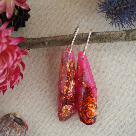 Shard Earrings - Pink
