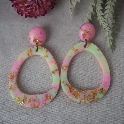 Orbit Earrings - Fluoro