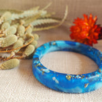 Bangle - Thin Oval Blue