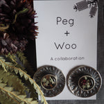 Peg+Woo - Earrings Mandala Studs