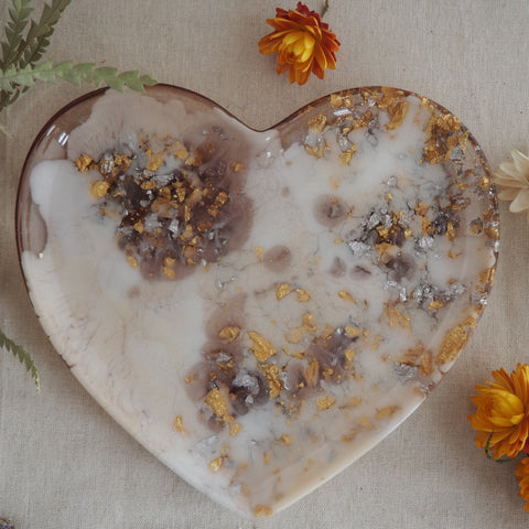 Dish - Heart - Cream/Gold