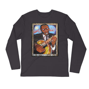 "Stan Street ""Howlin"" Wolf"" Long Sleeve Fitted Crew"