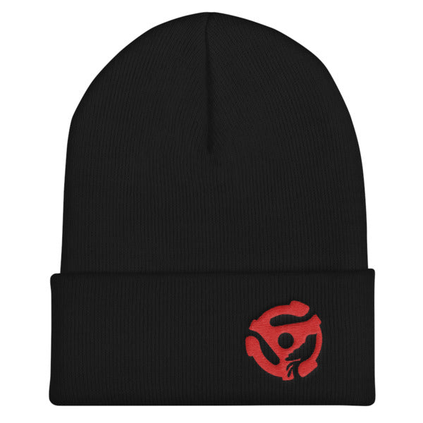LYRIC.life Red 45 Cuffed Beanie