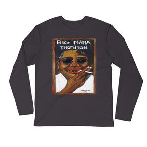 "Stan Street ""Big Mama Thornton"" Long Sleeve Fitted Crew"
