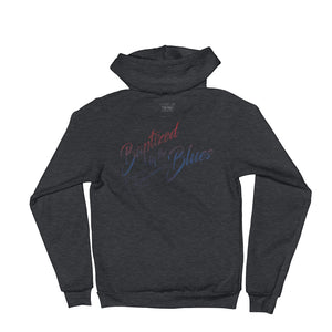 """Baptized by the Blues"" Zip Hoodie"