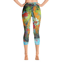 "Load image into Gallery viewer, Stan Street ""Delta Spring"" Yoga Capri Leggings"