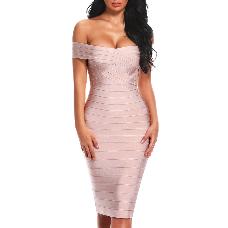 Sexy Off Shoulder Women Bandage Dress