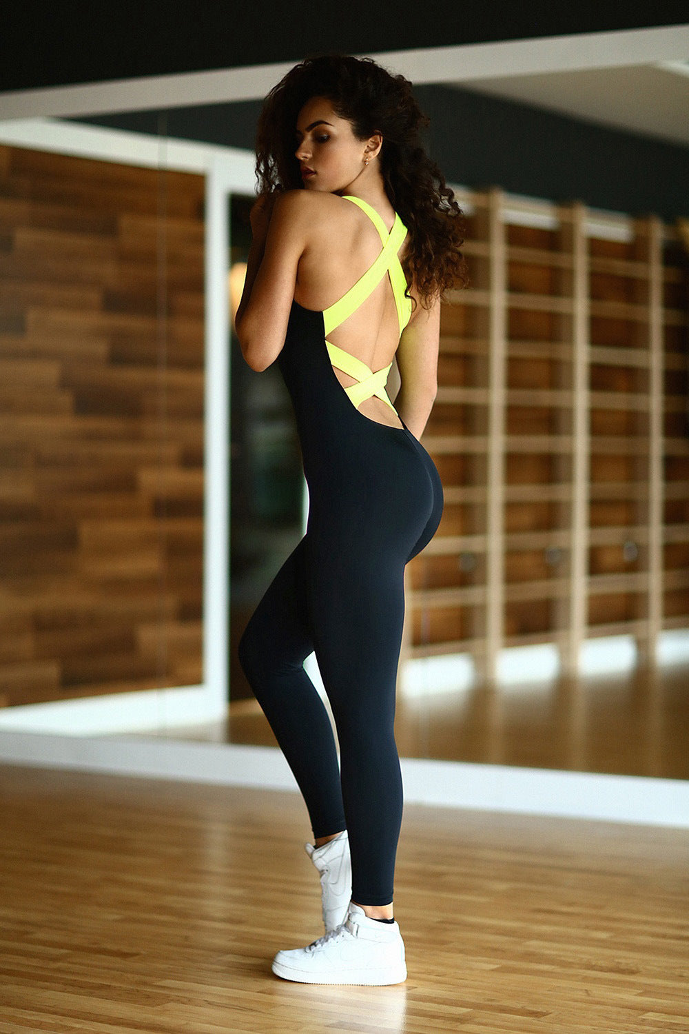 Sexy Full Bandage Backless Jumpsuit\Gymsuit