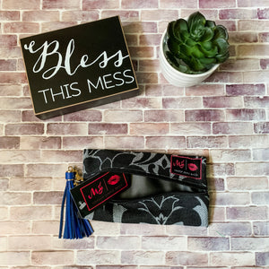 Makeup Junkie Black Velvet bag, makeup bag