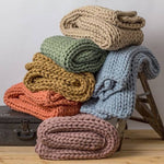 Chunky Knit Throw-Two Sweet Berries