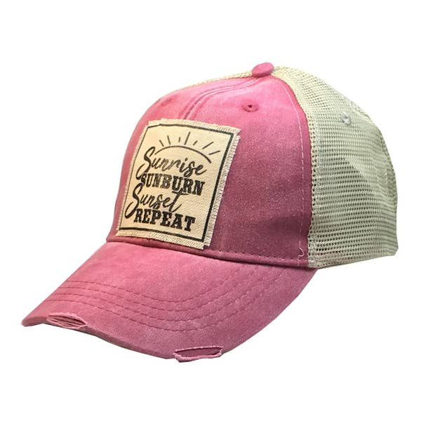 Sunrise, Sunburn, Sunset Trucker Cap