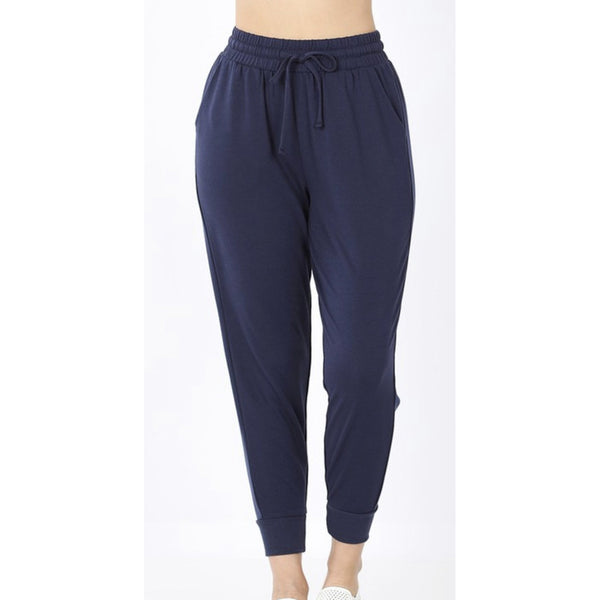 Happy Place Joggers- Navy