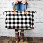 White Buffalo Plaid Weekender-Two Sweet Berries