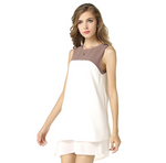 USA SIZE Sleeveless stitching irregular dress