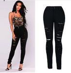 Explosions Slim stretch high waist denim pants