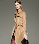 New Winter new ladies fashion long slim slimming suede