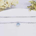 Women S925 sterling silver sky blue