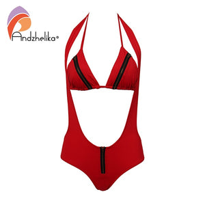 Metal Zipper Brazilian Woman Swimsuit