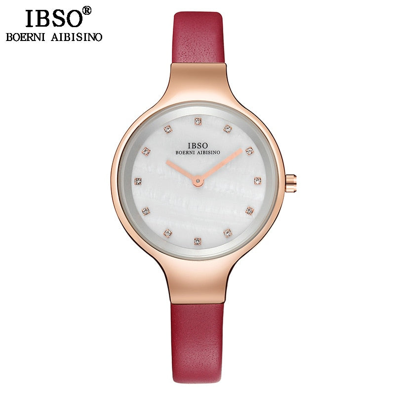 Shell Dial Female Stainless Watch