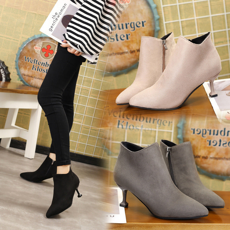 Martin Suede boots female European Style
