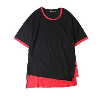 strap loose short-sleeved T-shirt