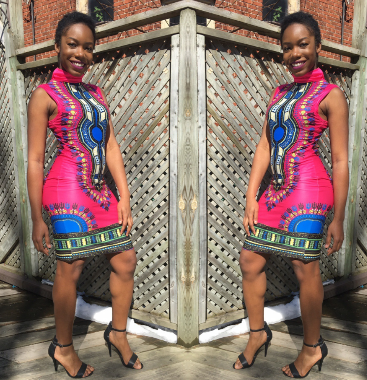 South American style African high elastic dress