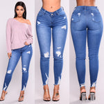 High waist stretch slim pencil feet pants