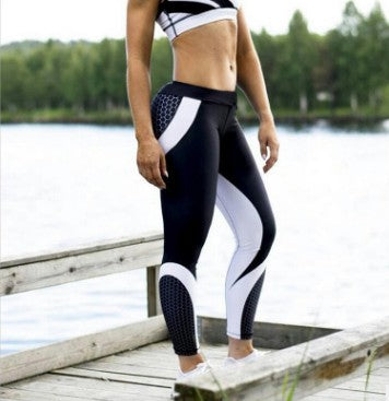 Geometric honeycomb Yoga Pants