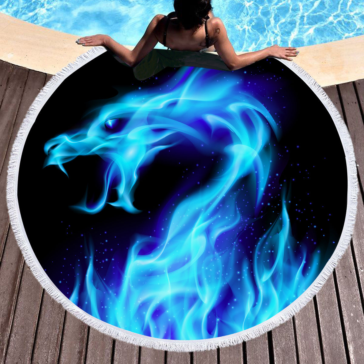 Dragon Swimming Yoga Towel