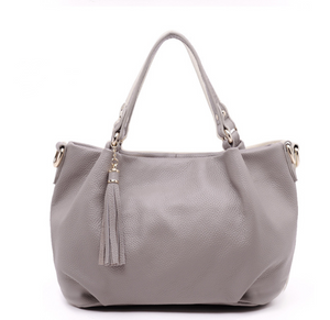 Sling Bucket Portable cowhide leather handbag