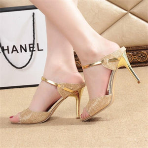 Fish mouth stiletto heels