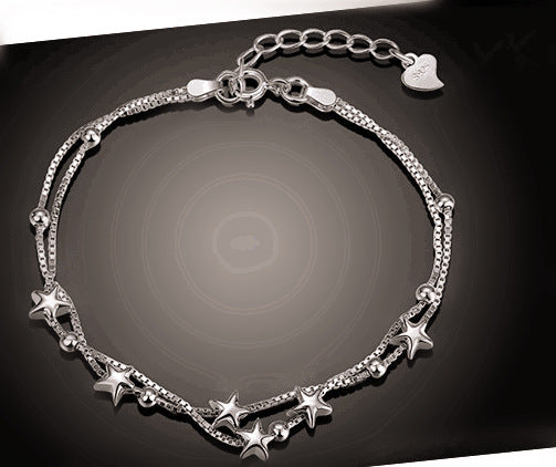 Genuine s925 Silver Creative Star Bracelet